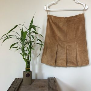 Ann Taylor 100% Leather Skirt